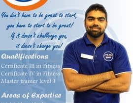 Nro 7 kilpailuun A4 poster - personal trainer profile käyttäjältä highdragon
