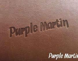 """kaygraphic tarafından Design a logo for a leather brand """"Purple Martin"""" için no 43"""