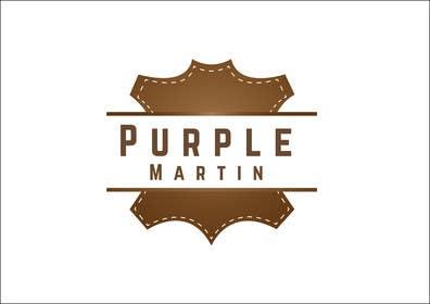 "Prodesigns786 tarafından Design a logo for a leather brand ""Purple Martin"" için no 25"