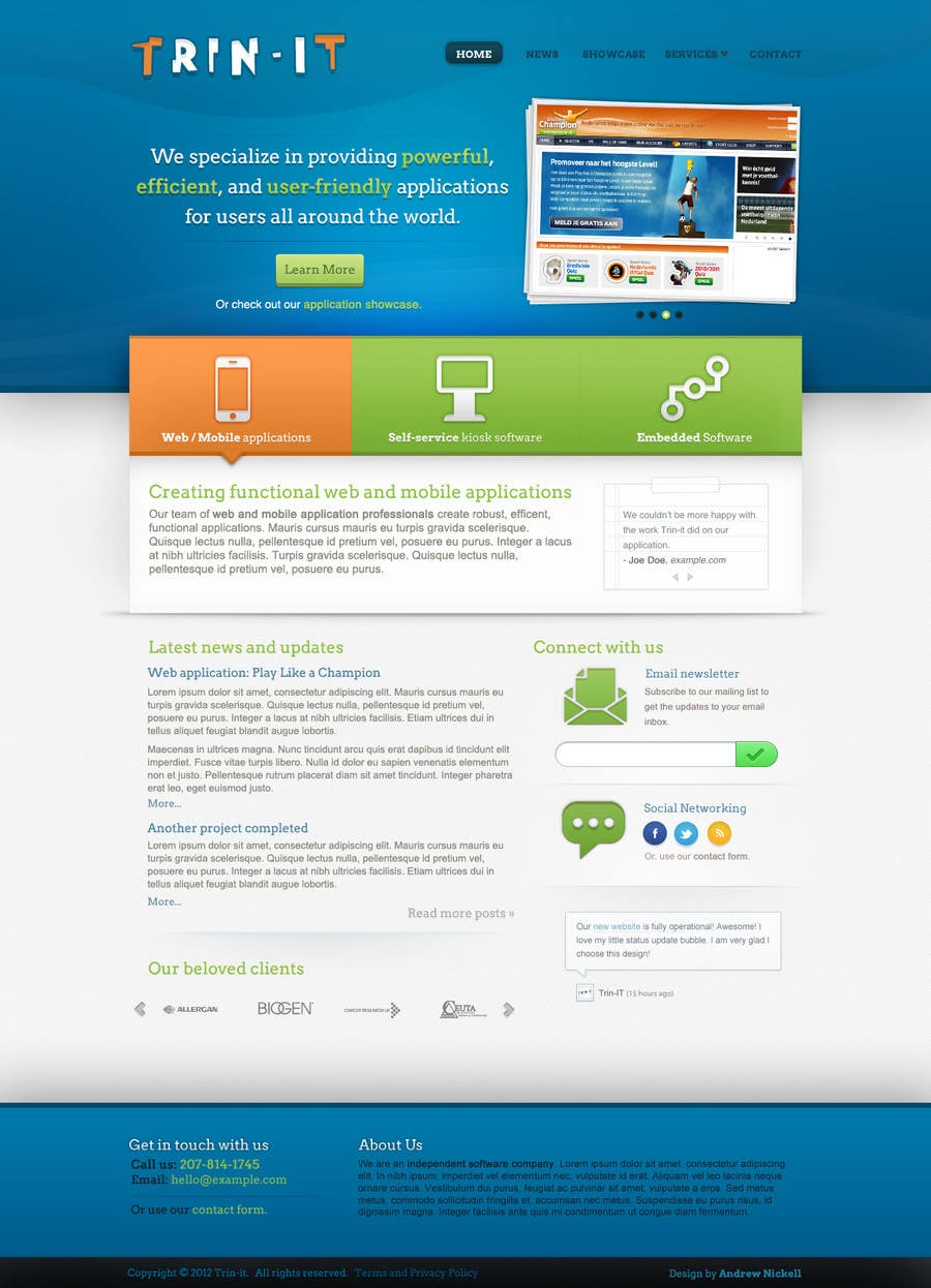 #8 for Website Design for Trin-iT Software Solutions by andrewnickell