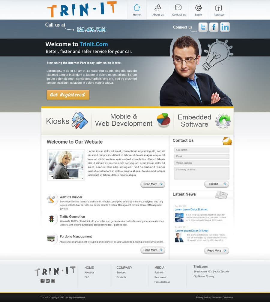 #36 for Website Design for Trin-iT Software Solutions by monikjee