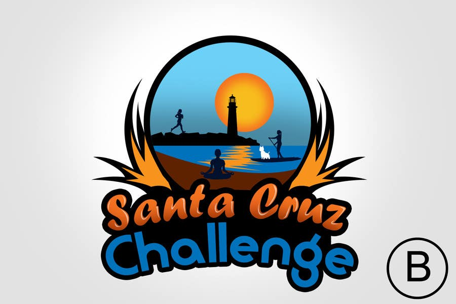 #95 for Illustration Surfer Sunset Santa Cruz Dog LOGO contest by rogeliobello