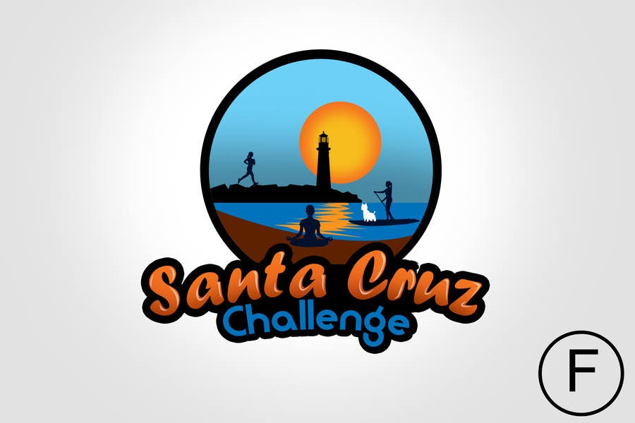 #99 for Illustration Surfer Sunset Santa Cruz Dog LOGO contest by rogeliobello