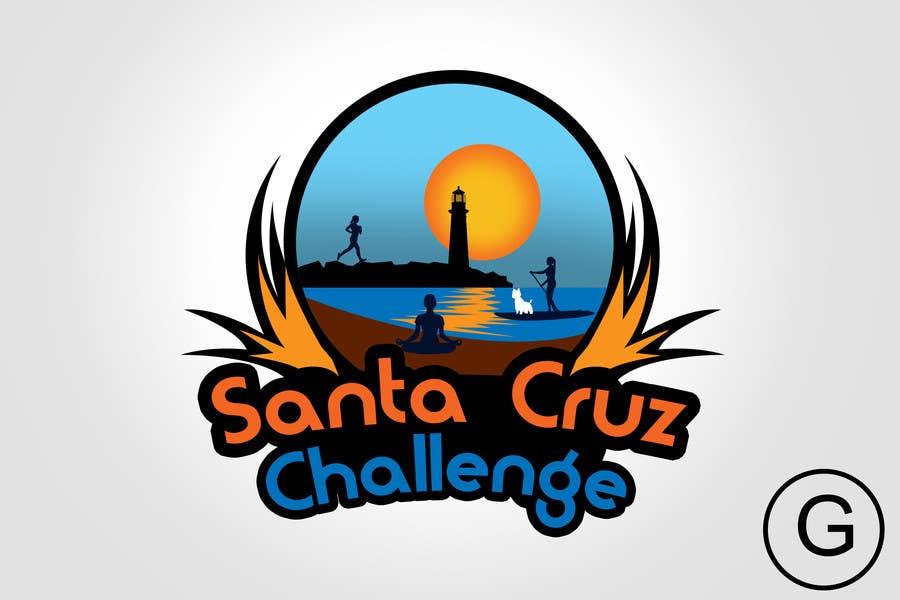 #117 for Illustration Surfer Sunset Santa Cruz Dog LOGO contest by rogeliobello