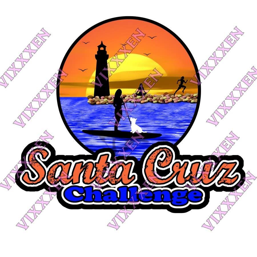 #87 for Illustration Surfer Sunset Santa Cruz Dog LOGO contest by Vixxxen