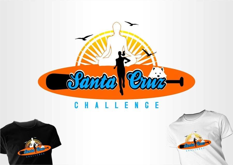 #110 for Illustration Surfer Sunset Santa Cruz Dog LOGO contest by eremFM4v