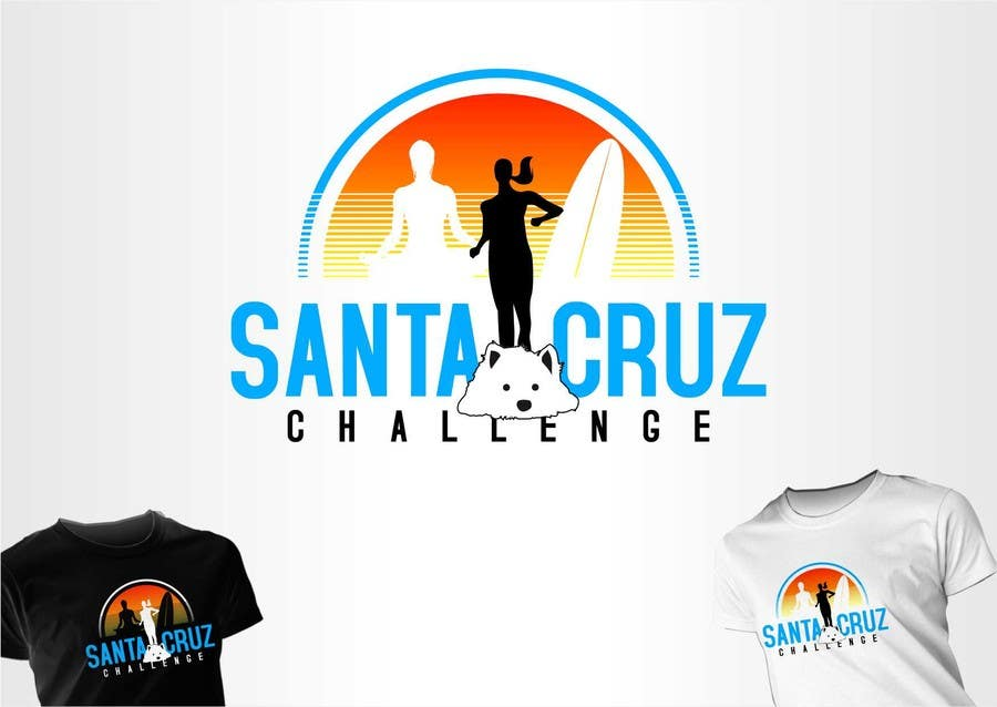 #115 for Illustration Surfer Sunset Santa Cruz Dog LOGO contest by eremFM4v