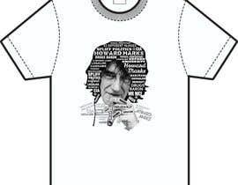 Nro 22 kilpailuun Illustrate Typography portrait for t-shirt käyttäjältä NavCZ