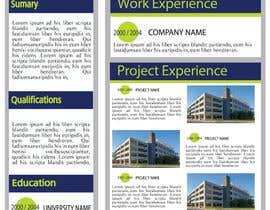 Nro 25 kilpailuun Graphic Design for Resume Template käyttäjältä jhosser
