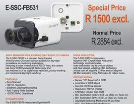 #23 untuk Design a Flyer for a Special Offer on Sony CCTV Camera Model FB-531 oleh Koicheva