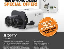 #16 untuk Design a Flyer for a Special Offer on Sony CCTV Camera Model FB-531 oleh whoislgc