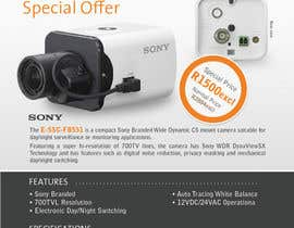 #15 untuk Design a Flyer for a Special Offer on Sony CCTV Camera Model FB-531 oleh dfvdiego