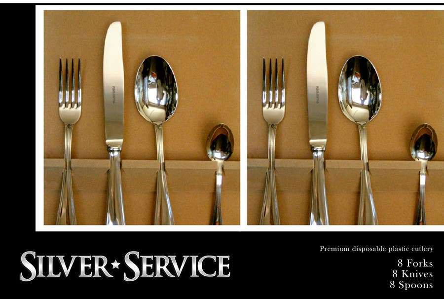 Konkurrenceindlæg #                                        21                                      for                                         Logo Design for Premium Disposable Cutlery - Silver Service