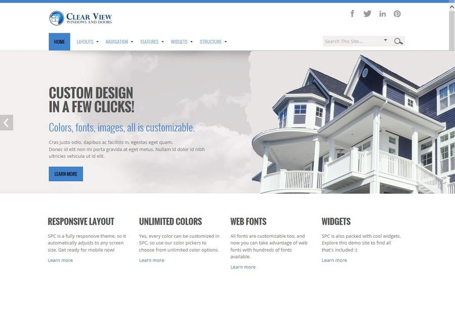 Contest Entry 2 For Office 365 Website Template