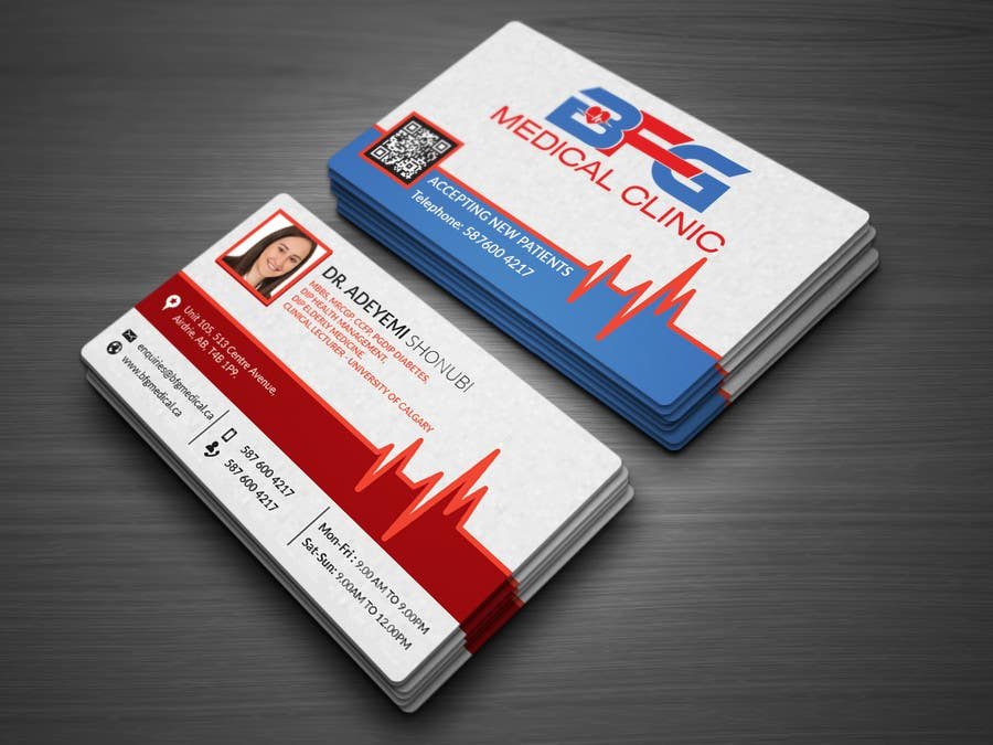 Entry #19 by atikul4you for MEDICAL CLINIC BUSINESS CARD & LETTER ...