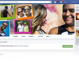 amitroy777 tarafından Design a Facebook Cover for a Couple with photos için no 19