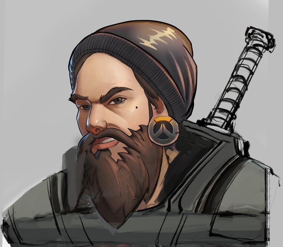 Kilpailutyö #14 kilpailussa Illustrate my face as an Overwatch character