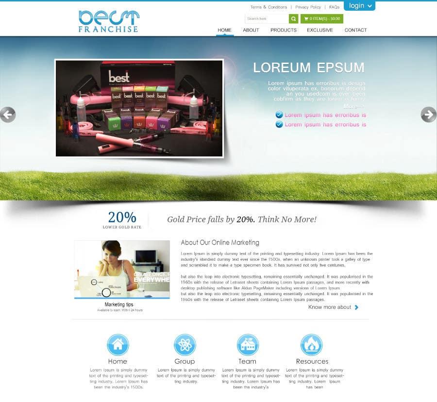 Bài tham dự cuộc thi #3 cho One page website design for franchise