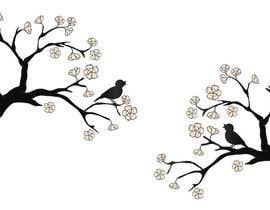#56 for Wall decal design - Trees and Flowers af elenabsl