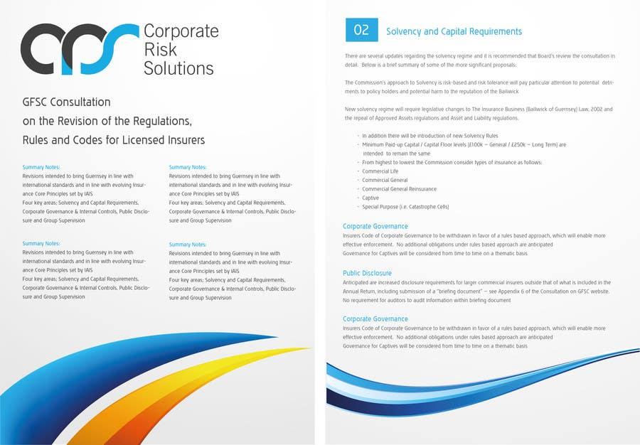 #18 for Design a template for our corporate publications by bluedartdesigner