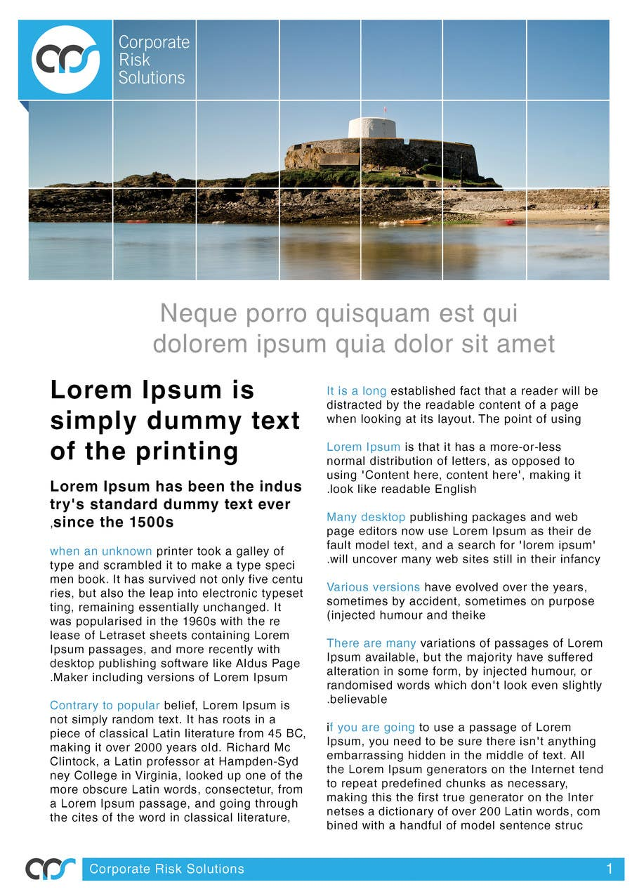 #32 for Design a template for our corporate publications by designreaktor