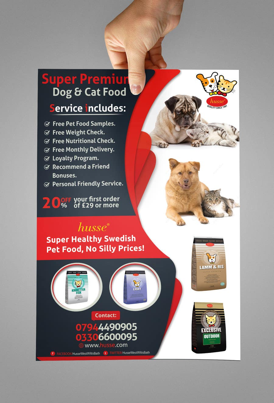 #24 for Design a Flyer for our Petfood Business by abdelaalitou