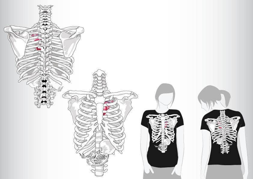 #2 for Pregnant Skeleton T-shirt Design by GeorgeOrf