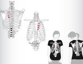 #3 para Pregnant Skeleton T-shirt Design por GeorgeOrf