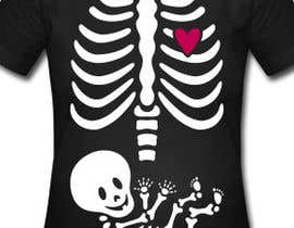 #13 for Pregnant Skeleton T-shirt Design by nextstep789123