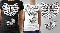 Contest Entry #5 for Pregnant Skeleton T-shirt Design