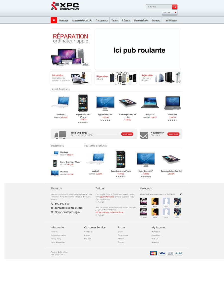 Kilpailutyö #60 kilpailussa Upper banner. Integrate the logo in the home page. design a little bit.