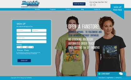 zicmedia tarafından Landing Page for an Apparel Company için no 2