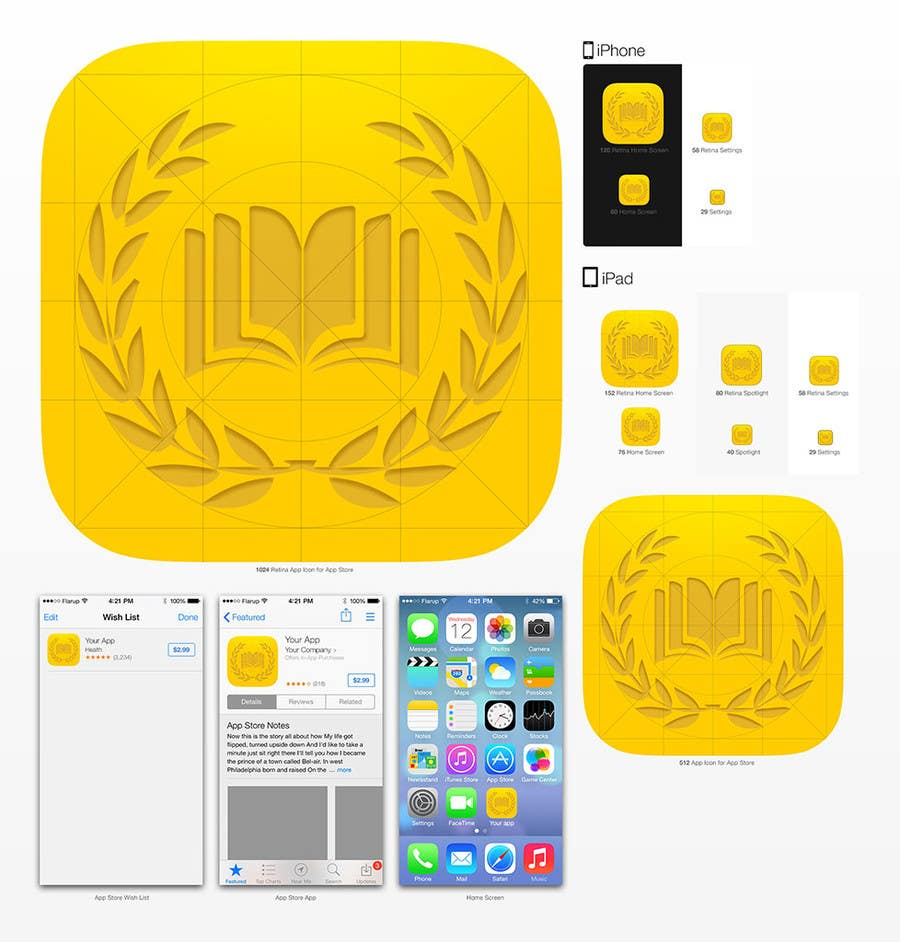 Contest Entry #36 for Design a Logo for an iPhone and Android app for Award winning books.