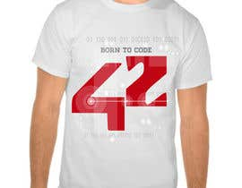 #53 untuk T-Shirt or Black Hoodie for new school in France : école 42 oleh gabrisilva