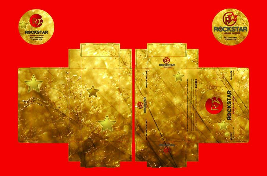 Kilpailutyö #                                        5                                      kilpailussa                                         Print & Packaging Design for Rockstar Herbal Incense