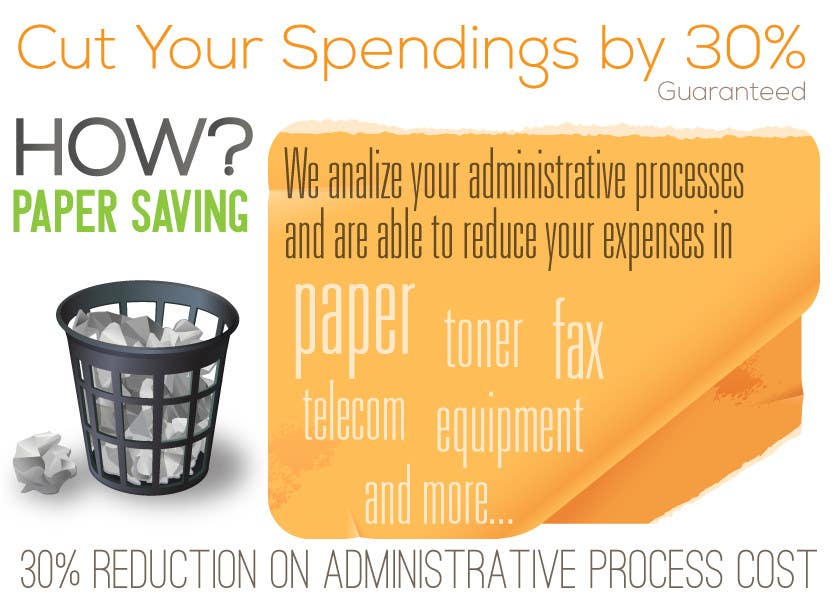 Contest Entry #19 for Ad to attract customer to get Paper Saving Consulting Services