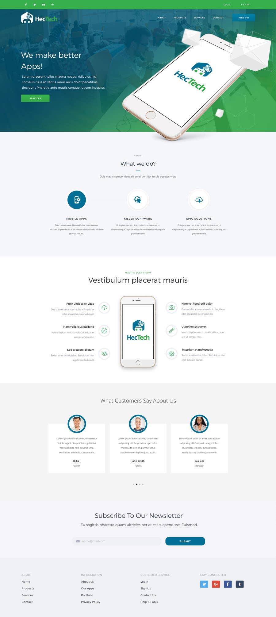 Kilpailutyö #21 kilpailussa Design a landing page