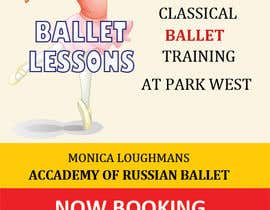 nº 34 pour Design flyer for ballet school par mydZnecoz