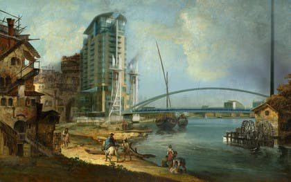 #81 for Fun Project - Photoshop new buildings into an old painting by TaseerID