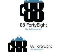 Nro 286 kilpailuun Design a Logo 88FortyEight Bar and Restaurant käyttäjältä ChefEstabon