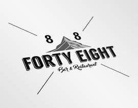 Nro 279 kilpailuun Design a Logo 88FortyEight Bar and Restaurant käyttäjältä Cfigueroahe