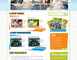 #40 cho Design a Website Mockup for educational online magazine for children bởi MagicalDesigner