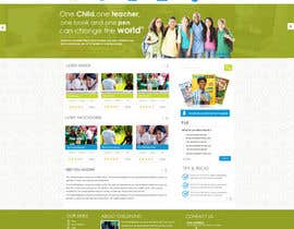 #54 para Design a Website Mockup for educational online magazine for children por MagicalDesigner