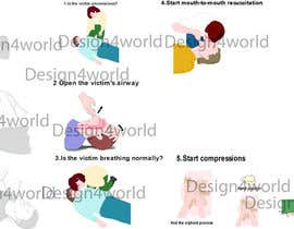 #2 untuk Reillustration of CPR Instructions. oleh design4world