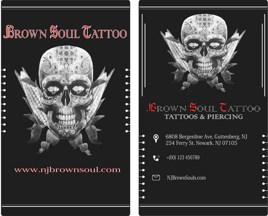 Entry #28 by luvyyy for Tattoo Shop business card design   Freelancer