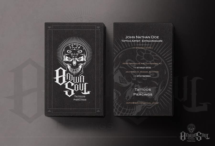 Entry #16 by SeanKilian for Tattoo Shop business card design ...