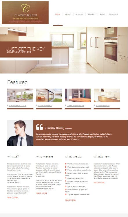 #13 for Build a Website for Remodelling company by zicmedia