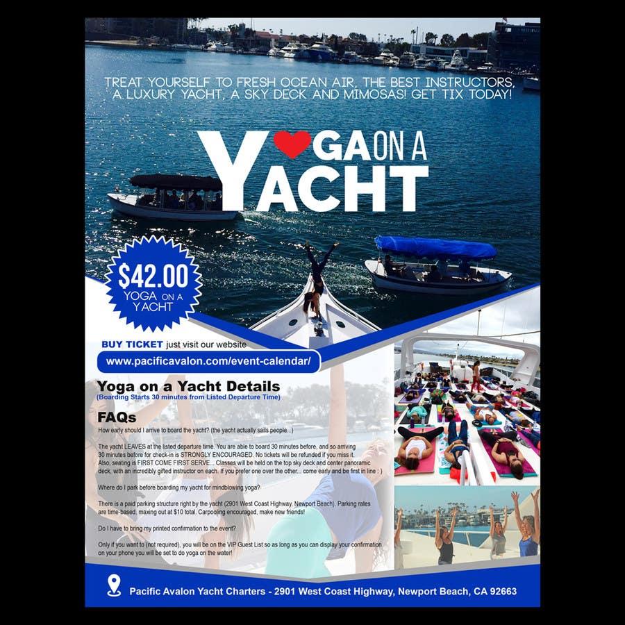 Penyertaan Peraduan #                                        37                                      untuk                                         Design Yoga on a Yacht Flyer