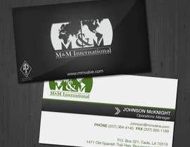 #64 untuk Business Card Design for M&M International oleh jennfeaster