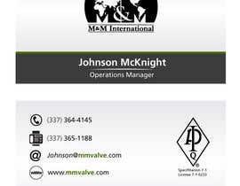 #167 для Business Card Design for M&M International от pmfeijoo